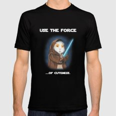 Jedi Guinea Pig X-LARGE Black Mens Fitted Tee