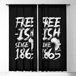 Black Pride History Free-ish Since 1965 Africa Blackout Curtain