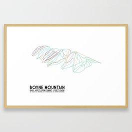 Boyne Mountain, MI - Minimalist Trail Art Framed Art Print