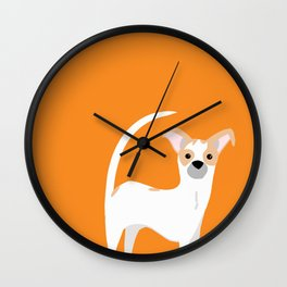Orange Linus Wall Clock