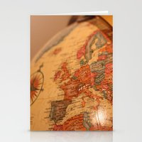 globe Stationery Cards featuring Globe by RMK Photography