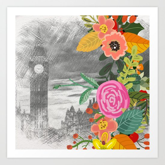 Flowers bouquet #13 Art Print