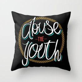 Abuse the Youth Throw Pillow