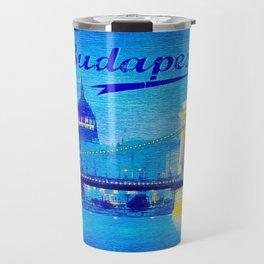 Budapest, light blue Travel Mug