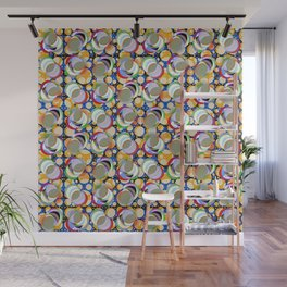 Circle Insanity Multicolored Wall Mural