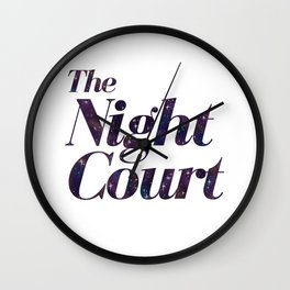 The Night Court Galaxy Design White Wall Clock