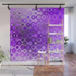 Wobbly Dots (violet) Wall Mural