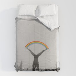 Straddle Rainbow Handstand Comforters
