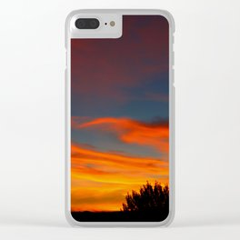 Sunrise Haven Clear iPhone Case