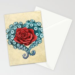 Octo Rose Love Stationery Cards