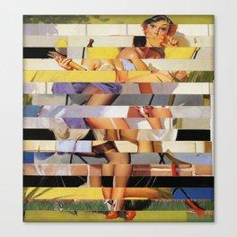 Glitch Pin-Up Redux: Isabella Canvas Print