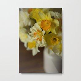 Rustic Spring Flowers Metal Print
