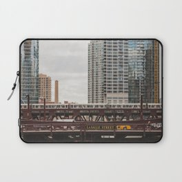 LaSalle Street - Chicago Photography Laptop Sleeve