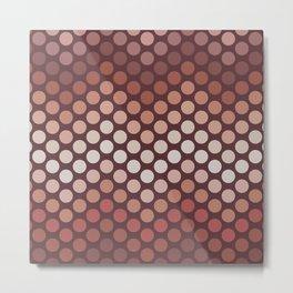 Dot Chevron: Earth tones  Metal Print