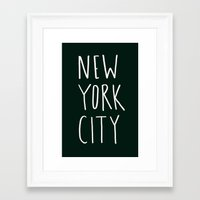 nyc Framed Art Prints featuring NYC by Leah Flores
