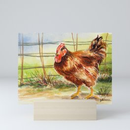Rooster: Good Morning Mini Art Print