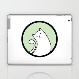Little White Derpy Kitty Laptop & iPad Skin