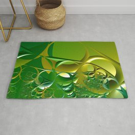 Sunrays through the grasses - An abstract illustration  Rug