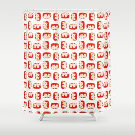 2 Dogs Shower Curtain