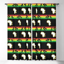 Map of Africa Pattern Blackout Curtain