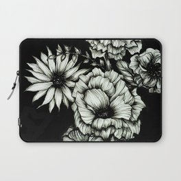 Black Floral Ink III Laptop Sleeve