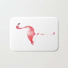 Watercolor Flamingo Bath Mat