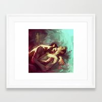 sterek Framed Art Prints featuring sterek by AkiMao