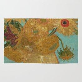 Vase with Twelve Sunflowers Rug