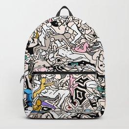 Kamasutra LOVE Doodle Closeup Color Valentine Backpack
