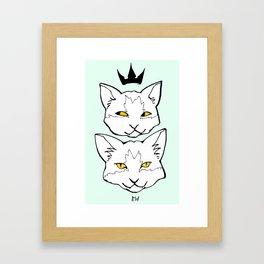 """Meow """"Color"""" Framed Art Print"""