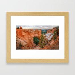 Natural Bridge Panorama at Bryce Canyon National Park Framed Art Print
