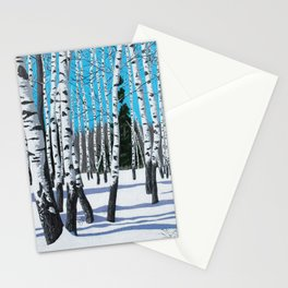 Winter Birches Stationery Cards