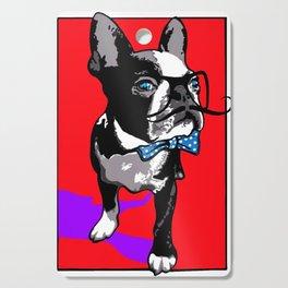 Hipster french bulldog Cutting Board