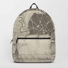 Vintage Map of Washington D.C. (1815) Backpack