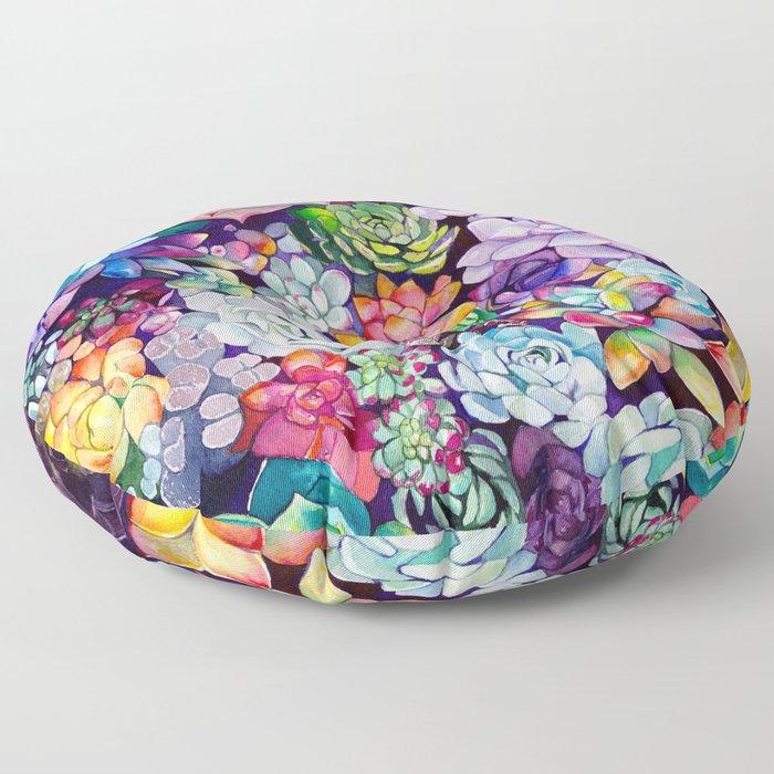 Succulent Garden Floor Pillow