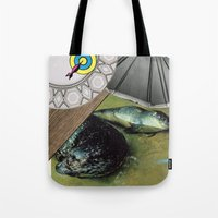 seal Tote Bags featuring Seal by Mary Lewey