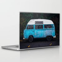 vw bus Laptop & iPad Skins featuring Vintage VW Bus Rusted  by Limitless Design