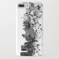 Philadelphia skyline in black watercolor iPhone 8 Plus Slim Case