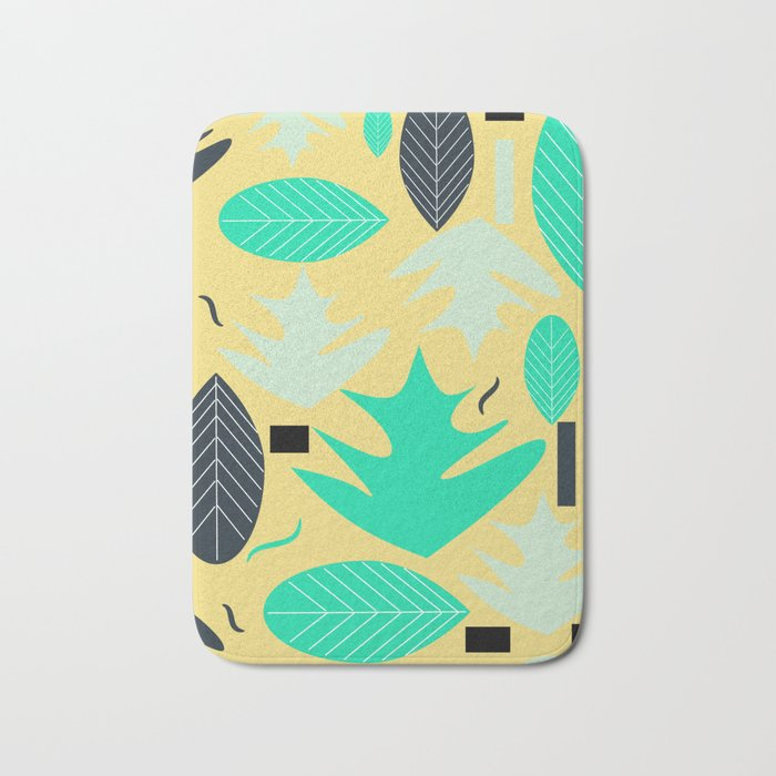 Leaf shapes Bath Mat