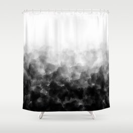 Ombre Smoke Clouds Minimal Shower Curtain