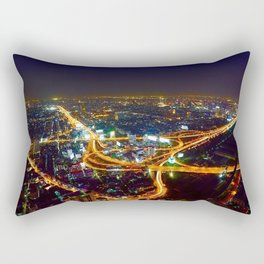 Bangkok Night Skyline Rectangular Pillow