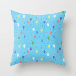 Bright Party Balloons Vector Pattern Throw Pillow