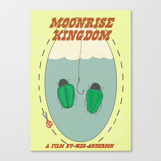 "Moonrise Kingdom ""Bug Earrings"" Canvas Print"