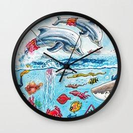 Dolphin Lifeguards Wall Clock
