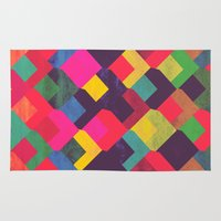 georgiana paraschiv Area & Throw Rugs featuring colour + pattern 11 by Georgiana Paraschiv