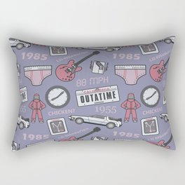 Back To The Future Pattern Rectangular Pillow