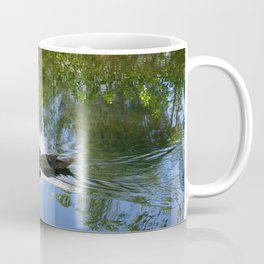 Muscovy Duck leaving a wake Coffee Mug