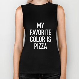 My Favorite Color is Pizza Biker Tank