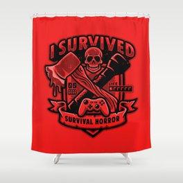 I Survived Survival Horror Shower Curtain