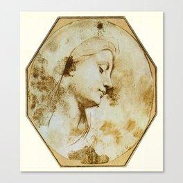 Tête de la Vierge Canvas Print